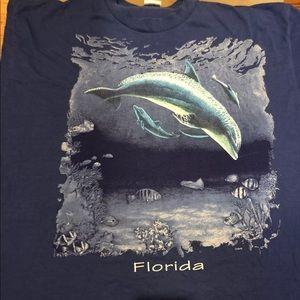 Vintage Florida Dolphin 90s tourist t shirt XXL
